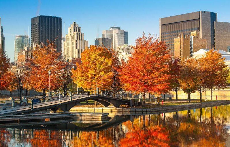Royal Park em Montreal, durante o Outono.