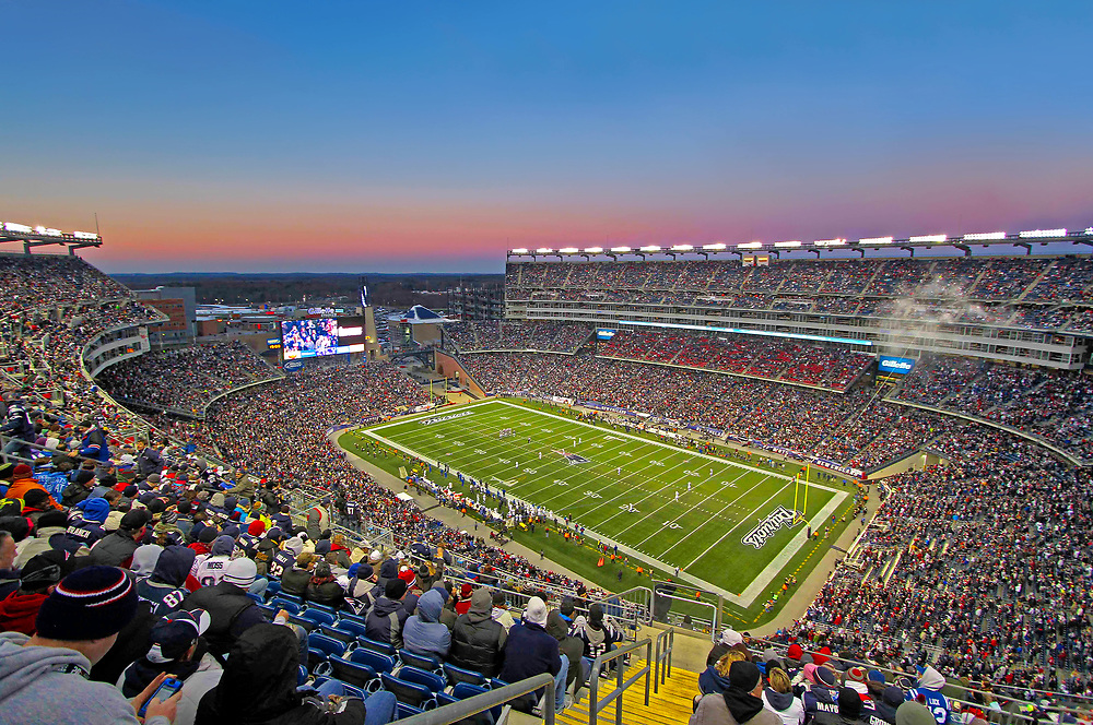Estádio do Patriots, time de Futebol Americano de Boston.