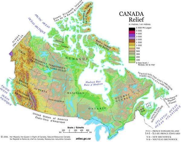 relevo-mapa-do-canada