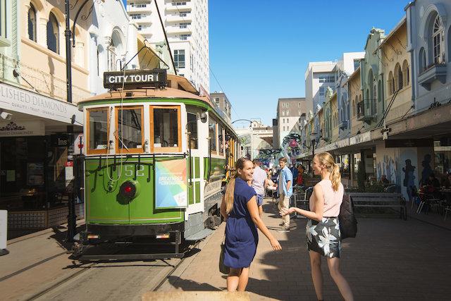 Pitoresca cidade de Christchurch.